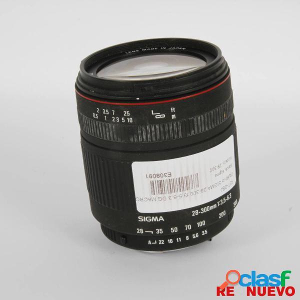 Objetivo sigma 28-300 f3,5-6,3 dg macro pentax segunda mano e308091