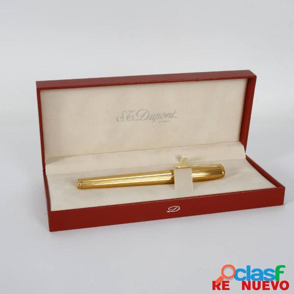 Pluma estilogrã¡fica st. dupont fidelio con plaquã© de oro e308317