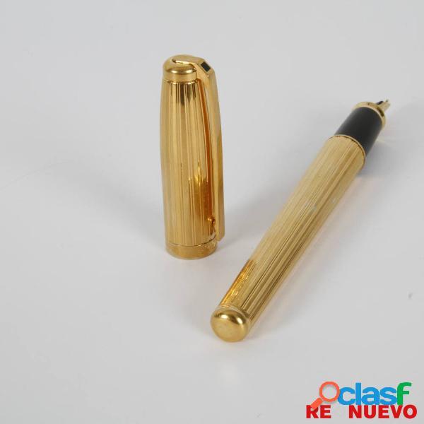 Pluma estilográfica ST. DUPONT Fidelio con plaqué de oro E308317 3