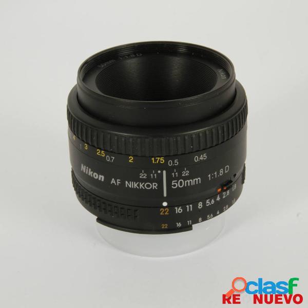 Objetivo nikkor 50mm f1,8 d af segunda mano e308995