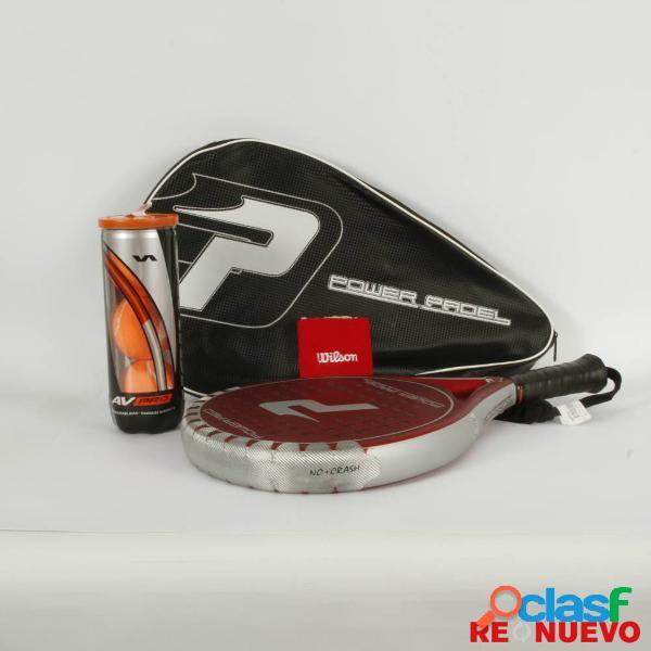 Raqueta padel POWER PADEL RED de segunda mano E309236 2