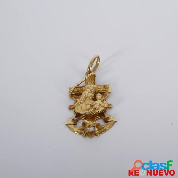 Colgante ancla con virgen de oro de segunda mano e305735b