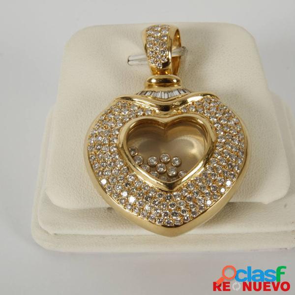 Colgante corazã³n oro de 18 qtes con diamantes e156181b