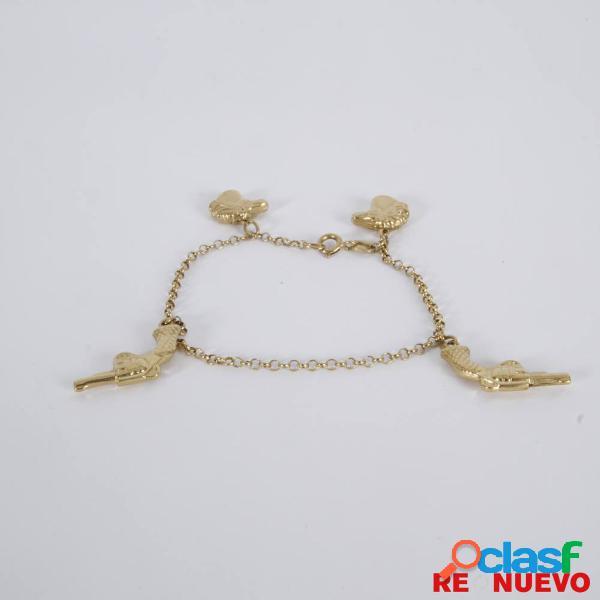 Pulsera con colgantes de oro de segunda mano E308973A