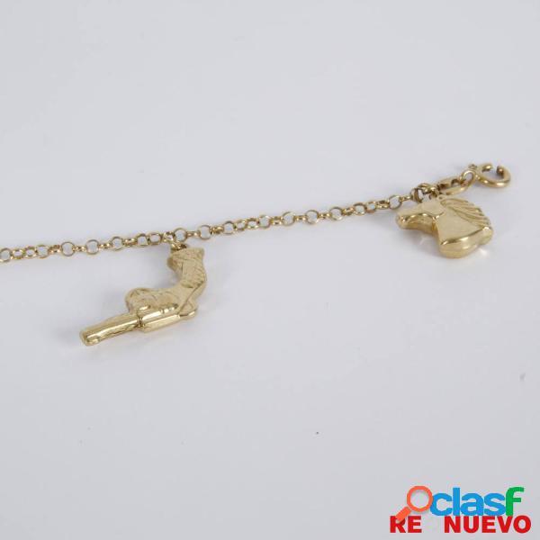 Pulsera con colgantes de oro de segunda mano E308973A 2