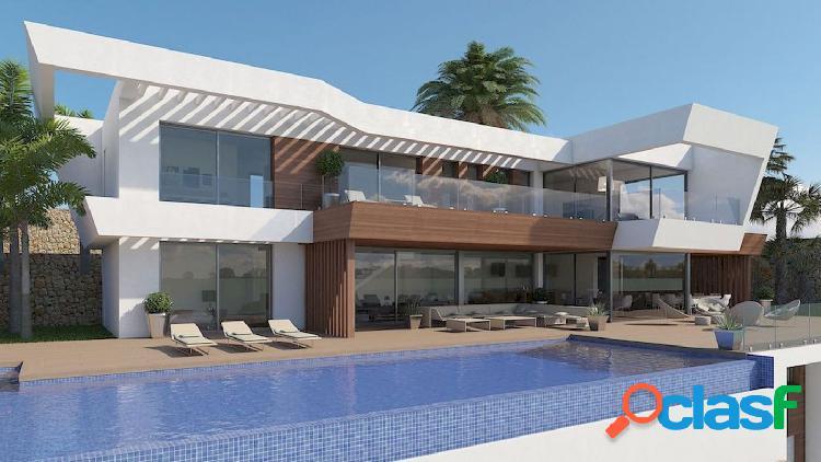 Fantástica villa moderna con magníficas vistas al mar, en la tranquila y encantadora moraira
