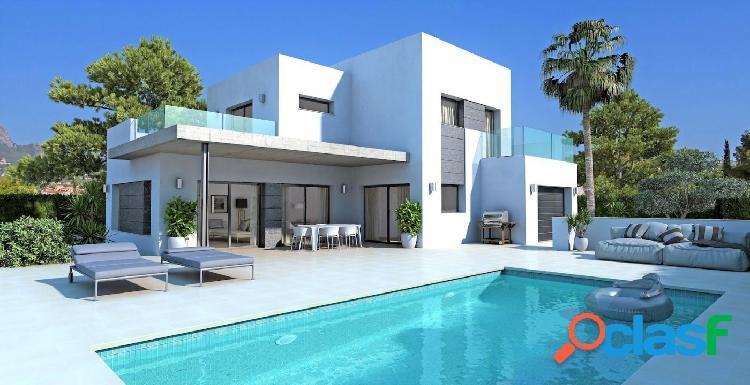 Nueva villa de estilo moderna en calpe a solo 1 km de la playa con vistas al peñón