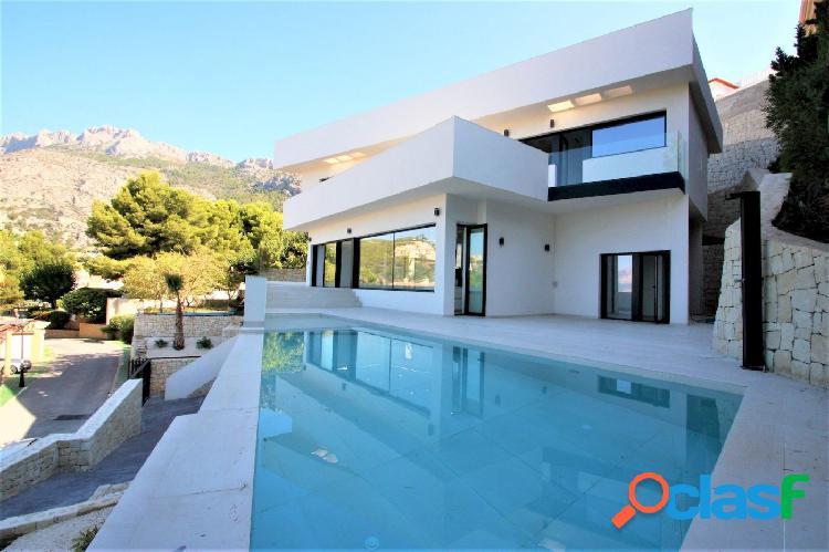 Oferta! nueva villa en venta de estilo moderno en altea hills con vistas al mar