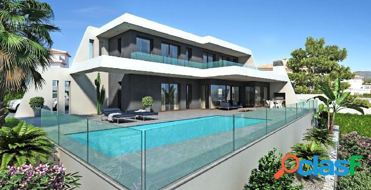 Preciosa villa moderna de nueva construcción en la costa de moraira con vistas al mar