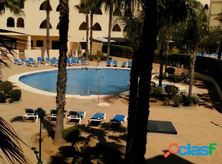 Apartamento en primera linea de playa con piscina privada