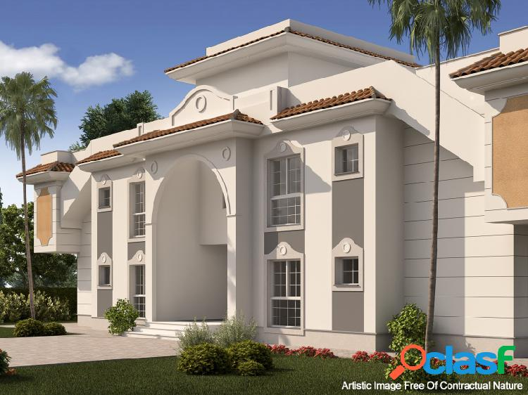 Apartamento con jardín en residencial privado