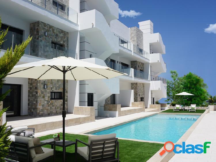 Apartamento con jardín en playa arenales del sol (elche)