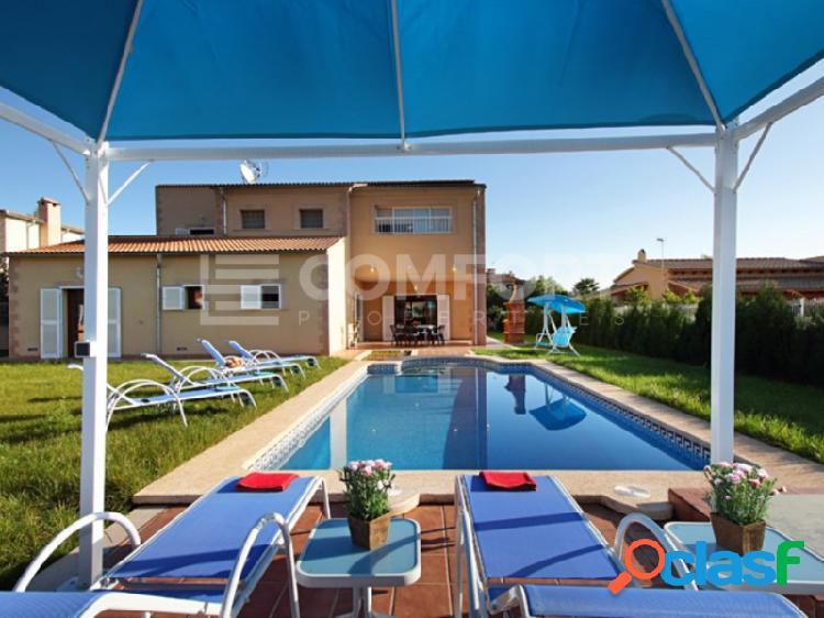 Chalet con jardin y piscina privada en sa pobla
