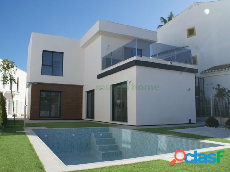 Villas 3d de diseño con piscina privada en santiago de la ribera