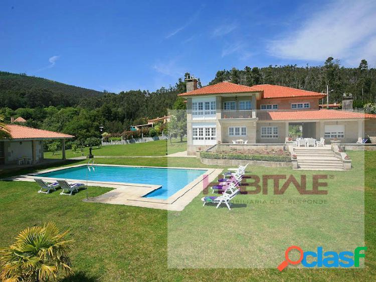 ¡ impresionante chalet de lujo entre sanjenjo y pontevedra, piscina, vistas sobre la ría!
