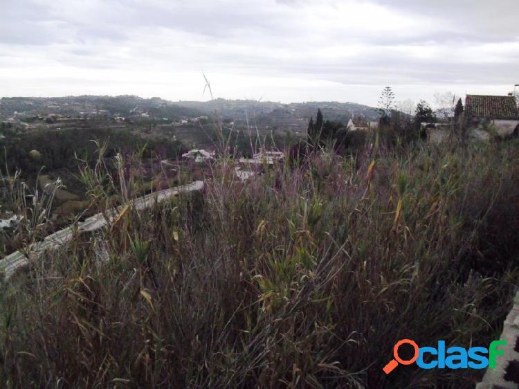 Parcelas con vistas panoramicas en benissa
