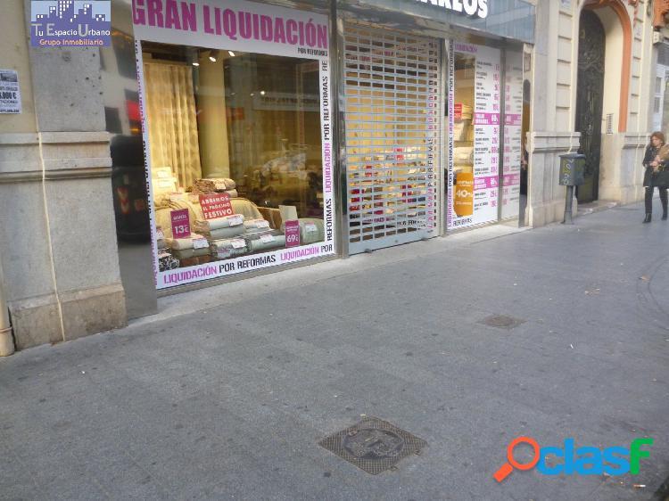 Traspaso de local en el centro del comercio valenciano.