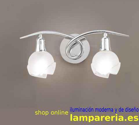 Aplique de pared 2 luces bali cromo e14 0987