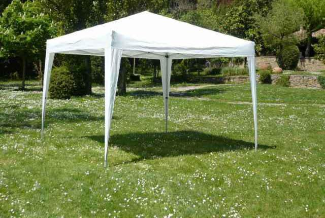 Carpa plegable color blanco 3x3 mts.