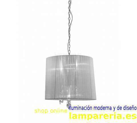 Lampara colgante 3 luces tiffany 3860