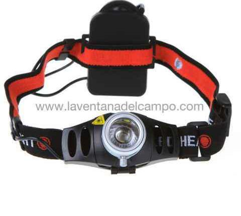 Linterna frontal led modelo fire 300 lumens