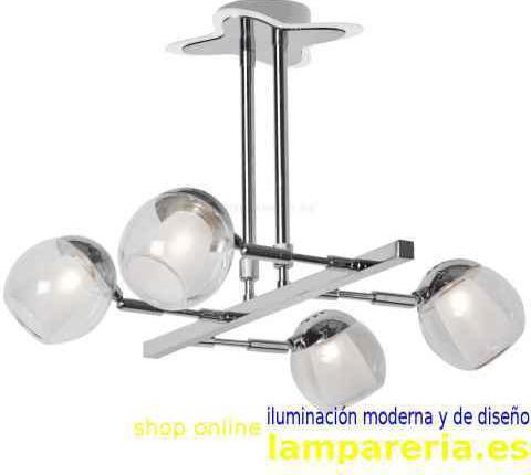 Lámpara colgante 4 luces star 240420