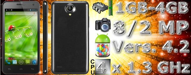 Smartphone star w450 4.5 inch multi-touch android 4.2.2