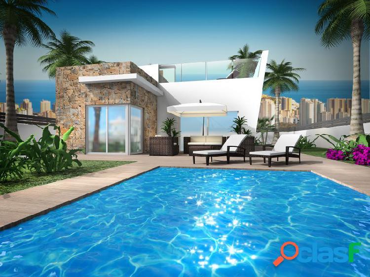 Estupenda casa en Finestrat con vistas al mar de Benidorm