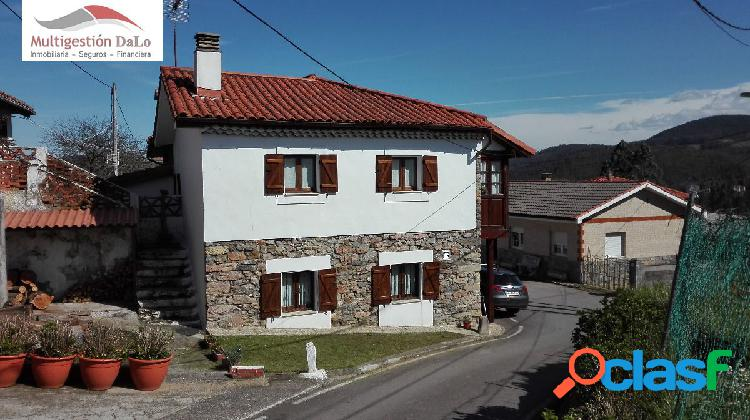 Preciosa casa asturiana reformada con pequeño jardin
