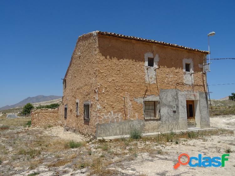 Venta de casa solariega tipica española, en torre del rico, jumilla, con 10.000 m2 de parcela.