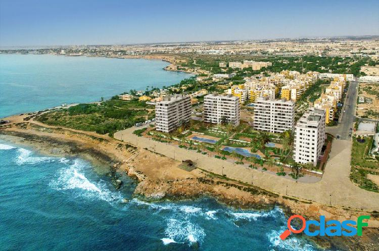 Panorama mar: sea front apartments for sale on the punta prima beach, torrevieja (alicante), costa b