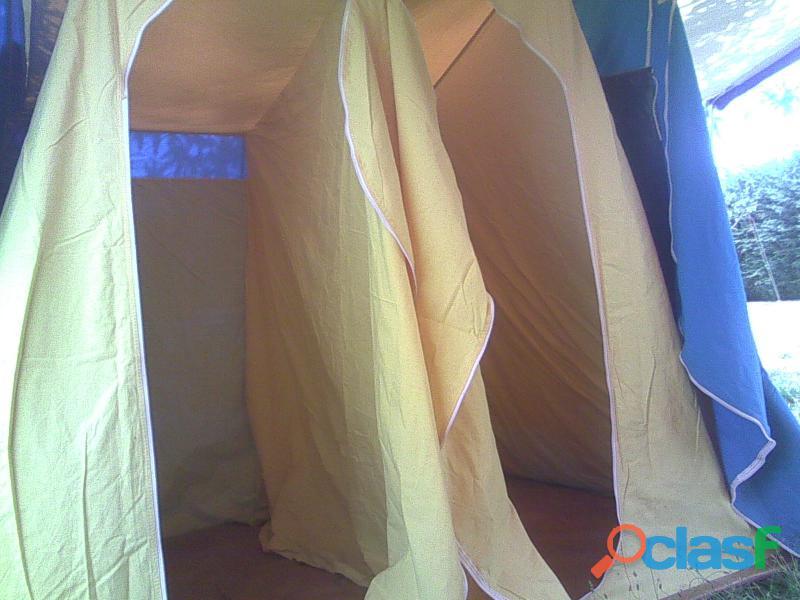 Tienda de campaña hca 4 plazas más 2 sacos de dormir. 5