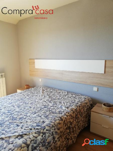 Piso seminuevo de 2 dormitorios, amueblado, baño y aseo, garaje,