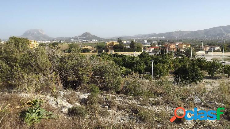 Parcela con vistas panorámicas al valle y montañas en beniarbeig (costa blanca)