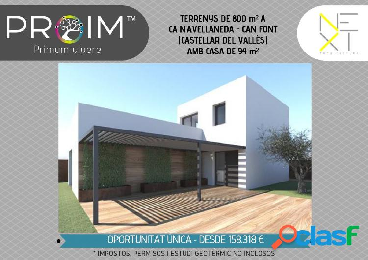 ANTEPROYECTO CONSTRUCCION CASA EN TERRENO-URB.CAN FONT-CAN AVELLANEDA