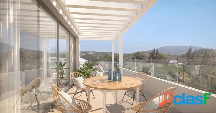 Modernos y ámplios apartamentos de 2, 3 y 4 dormitorios en venta en La Cala de Mijas
