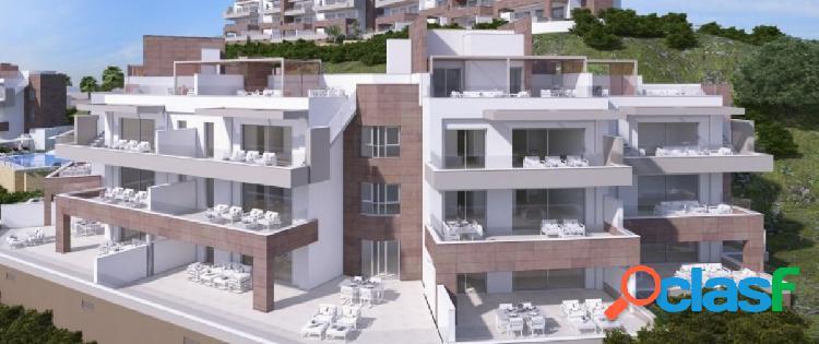 Nuevos apartamentos en venta sobre plano de 2 y 3 dormitorios y áticos en La Cala Resort, Mijas Cost