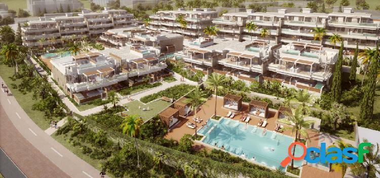 Moderno apartamento con terraza en venta cerca de la playa en la cala de mijas