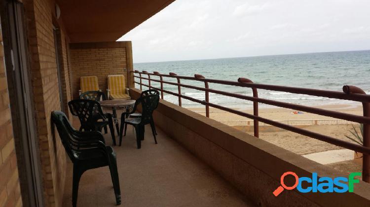 Apartamento 1ª línea playa arenales del sol (alicante-elche)