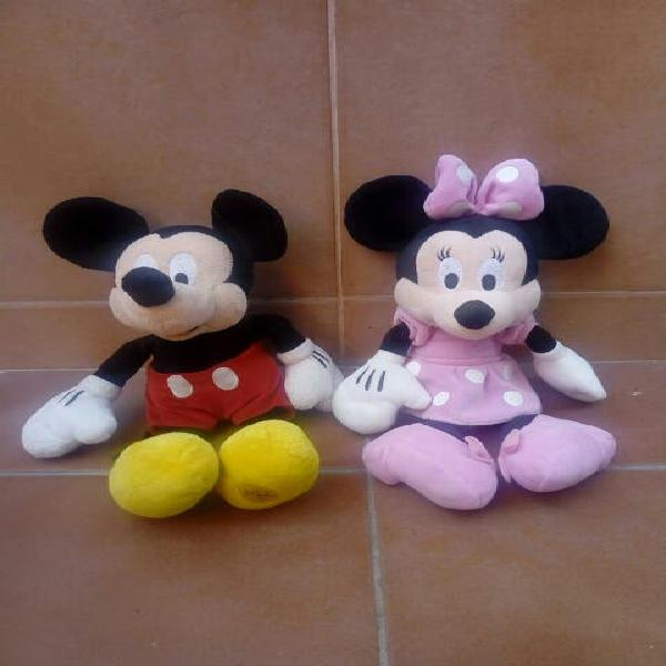 Lote peluches mickey y minnie mouse