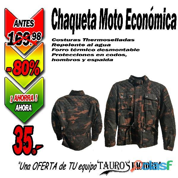 Chaqueta economica de moto camo marron