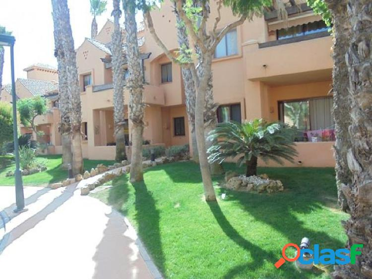 Luxury front line furnished three bedroom duplex apartments located front line complex los narejos