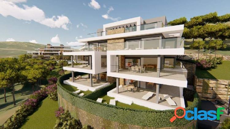 Nuevo apartamento orientado al sur con vistas panoramicas a valle natural in selwo, estepona
