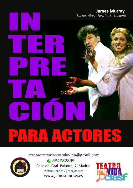 Teatro   curso intensivo de interpretación