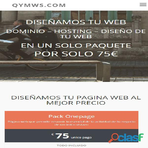 Diseño web desde 75 €
