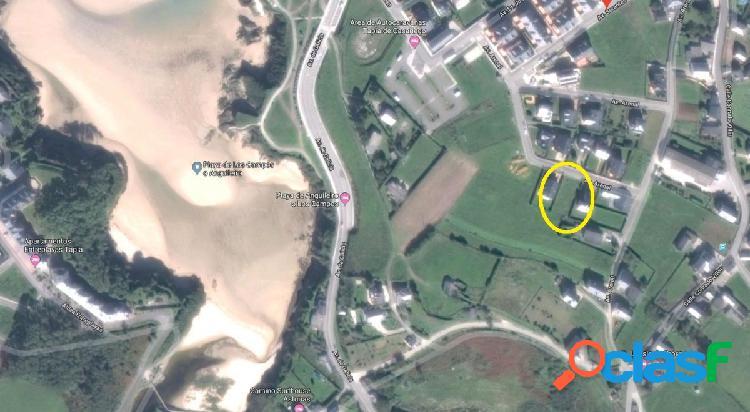 Parcela urbana 602 m2. a solo 250 metros playa de tapia casariego