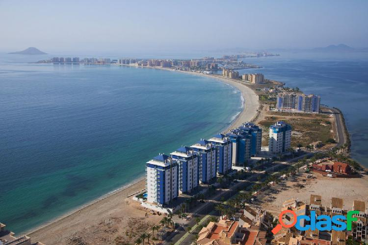 Tower is located first line on the coast of la manga del mar menor