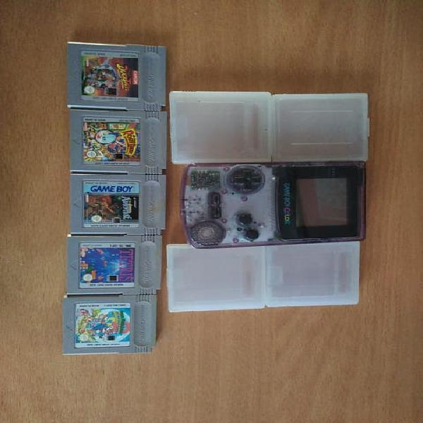 Gameboy color transparente + juegos