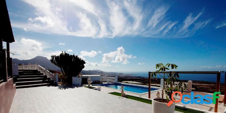 ¡ ¡oportunidad!! magnífica y espectacular villa de lujo vistas panorámicas tenerife sur