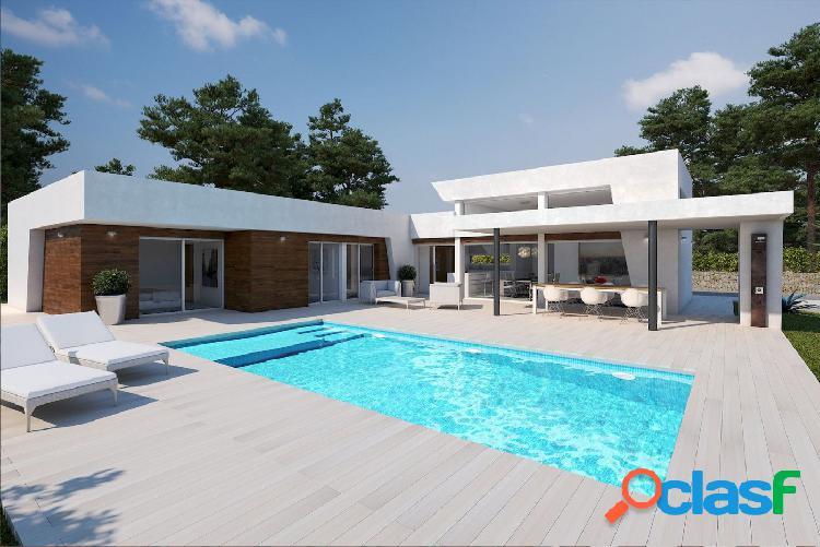 Villa moderna de nueva construcción de una sola planta a la venta en calpe con vistas abiertas